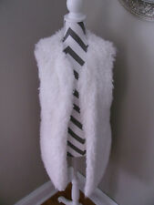 Boohoo Lily Long Faux Fur Off White Gimlet Vest NWT SZ 14 L