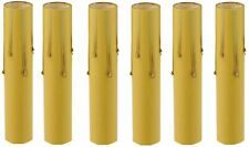 """6"""" Tall Antique Look Drip Candle Socket Covers ~ Candelabra Base, Lot of 6 ~ PLD"""
