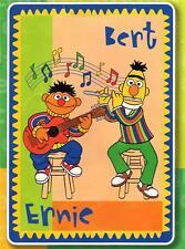 "PLAZA SESAMO SESAME STREET Ernie and Bert Acrylic TWIN BLANKET 60"" x 87"" New"