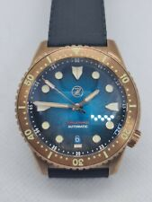 Zelos Mako Bronze V3 Automatic Watch Miyota 9015 Movement Teal Dial Hardly Worn