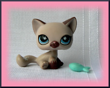 AUTHENTIC LITTLEST PETSHOP # 664 KITTY CAT PURPLE BUTTERFLY BLUE EYES CHAT LPS