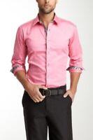 Jared Lang Pink Button Down Dress Shirt M