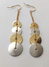 Surgical Stainless Steel 2 Tone Round  Disc Earrings