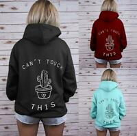 Women's  Simple Winter Hoodie Hooded Sweatshirt Sweater Coat Jacket Outwear