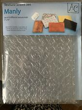 MANLY TEXTURE SHEET SET (6) For Cake Decorating