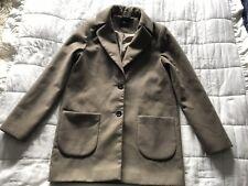 Womens ASOS Moss Green Coat Jacket Size 10