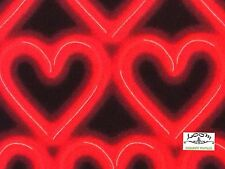 Rpg197A Neon Sign Heart Red Light Love Passion Valentine Cotton Quilt Fabric