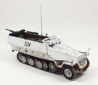 WWII German Sd.Kfz. 251/9 Stummel 'Black 534' Built-Up 1/35 Scale Model Kit