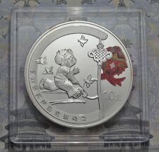 10 Yuan 2008 - China - Olympia in Peking - Reifenrollen 1 oz Ag
