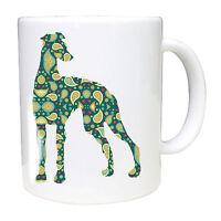 Whippet Mug Paisley Lurcher Greyhound whippet sighthound mug Birthday Gift