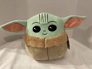 "STAR WARS Squishmallows BABY YODA The Child ~ Plush Stuffed Toy 11"" Kellytoy NWT"