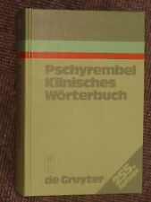 Pschyrembel Klinisches Wörterbuch Dr. med. Christoph Zink Walter de Gruyter 1986