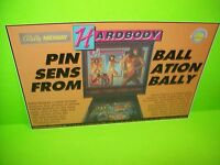 Bally HARDBODY Original NOS Pinball Machine Promo Sales Flyer Electrocoin RARE