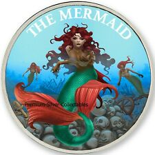 2019 USA Cryptozoology Series Mermaid! - Silver Colorized Series!