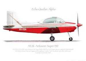 AESL Airtourer 150 VH-EQA 1969 - A3+ Profile Print