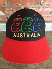 Australia Rainbow colored KOALA Adjustable Snapback hat cap with Red Bill