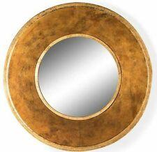 Vintage Style Antiqued Gold DEEP Framed Mirror 60 cm Diameter Round
