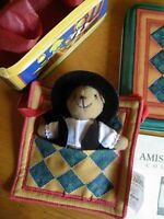 Amish QUILT Heritage Collection Ornament - Teddy Bear - NEW - FREE SHIPPING