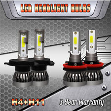 Combo LED Headlight Bulbs H4 9003 Fog Light H11 for Toyota Tacoma Yaris Tundra