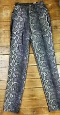 Women VTG Roper Jeans Western SZ 3-4 Tall Relaxed Fit SNAKE SKIN Design J1
