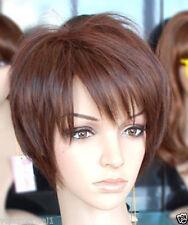 AUCJF220  pretty short brown women's straight wgis hair Wig  wigs for women