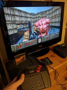 Atari Jaguar console with 60Hz mod + new LED + game