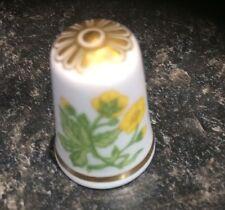 Spode Floral Thimble Buttercup