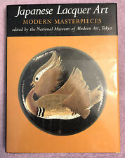 Japanese Lacquer Art By Modern Masters - 1st ed (1982) Color Plates - Rare in Dj