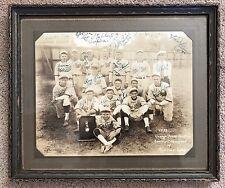 Antique Baseball 1933 Vintage Team Photo AG Spalding Trophy Rare Autographed