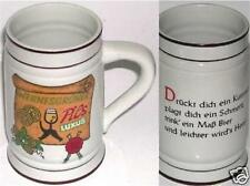 BEER DRINKING GLASS MUG WERNESGRUNER PILS LUXUS CERAMIC