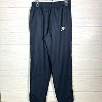 Nike Nylon Mesh Lined Windbreaker Pants Navy Blue Mens L