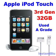 iPod Touch 32GB 3rd Generation Apple Black Used A Grade MP3 Music Player Gift
