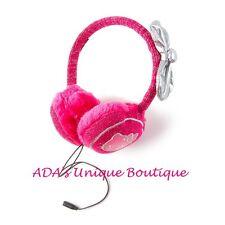 Sanrio Hello Kitty Pink Sparkly Plush Earmuff Headphones Volume Control Music