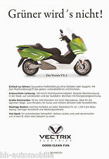Prospekt Vectrix VX-1 Elektro-Roller Motorroller 2010 brochure prospectus