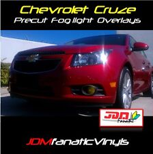11-13 Chevy Cruze Fog Light Yellow Overlays Tint EDM French Vinyl film PRECUT SS