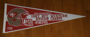 1987 San Francisco 49ers NFC Western Division Champs pennant Joe Montana Rice