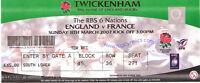 ENGLAND v FRANCE 11 Mar 2007 RUGBY TICKET at TWICKENHAM