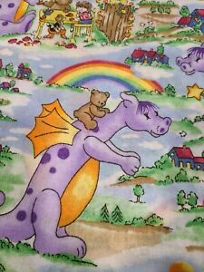 """""""MAGICAL TALES"""" BY DONA MOLLE  2 PIECES 3 yds TOTAL  Purple Dragons"""