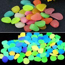 50PCS Artificial Fluorescent Stone Shiner Pebbles Aquarium Fish Tank Decor