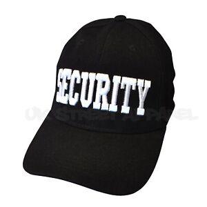 Black Security Adjustable Baseball Cap