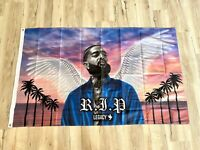 Nipsey Hussle 3ftx5ft flag banner angel wings limited edition collectible art