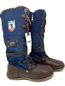 New~Pajar Canada Grip Zip Waterproof Boots~Navy~Women's 9 - 9.5
