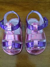 My First Stuart Weitzman Infant Girls Baby 2 Shoes Metallic  Purple Pink Sandals