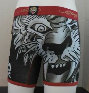 Ed Hardy Boxer Slip Féroce Tigre Tatouage Imprimé Homme Petit