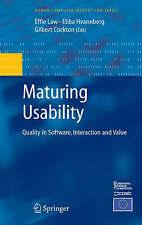 Maturazione usabilità: qualità in software, interazione e valore (Uomo-Computer