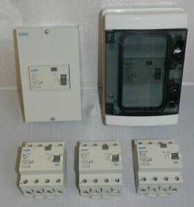 30mA 100mA 4 pole RCD 3 phase 63 80 Amp TP&N 63A 80A Time Delay with Enclosure