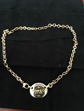 "18K GOLD Oval  ""PLEASE RETURN TO TIFFANY"" 750 NECKLACE"