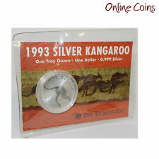 1993 Royal Australian Mint Uncirculated Specimen $1 Silver Frosted Coin - 1 oz