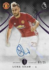 2016 TOPPS PREMIER GOLD EPL Luke Shaw Manchester United Purple Parallel Auto /25