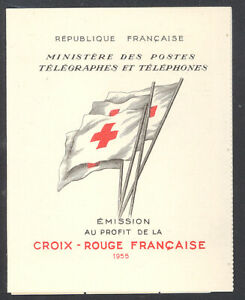 France 1955 Red Cross booklet Sc# B301a NH
